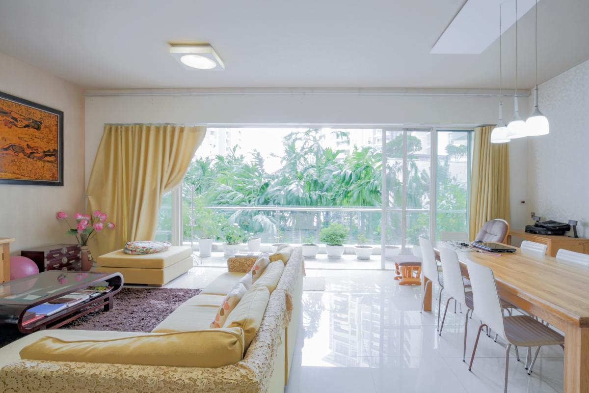 Phòng khách view nội khu Căn hộ 3 phòng ngủ tháp 4B The Estella An Phú