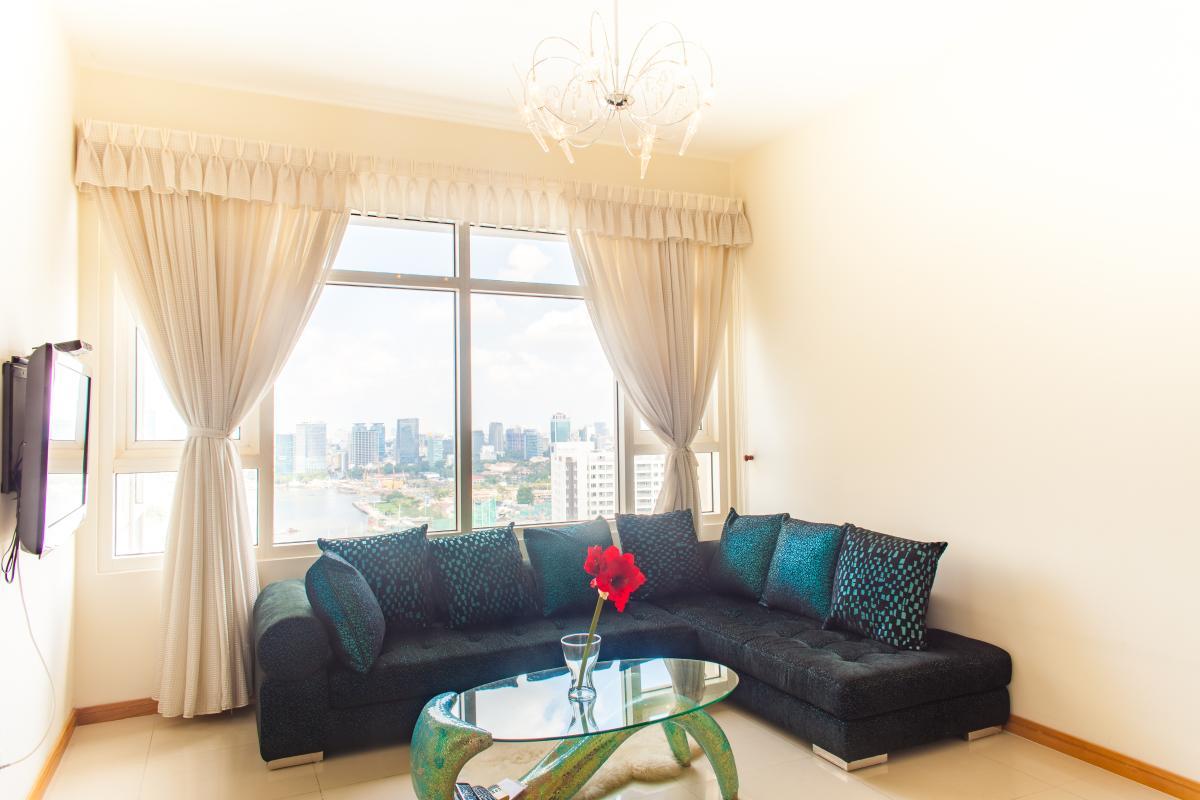 Sofa nổi bật Căn hộ tầng cao Ruby 2 Saigon Pearl