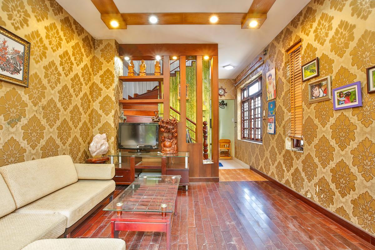 Phòng khách Nhà 3,5 tầng đường 20 Phú Hữu quận 9