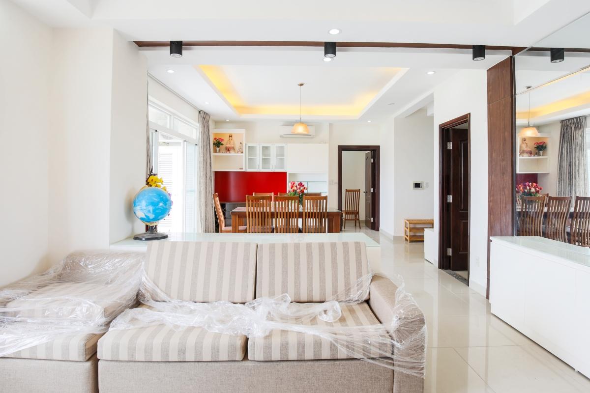 Phòng khách Căn hộ tầng cao AL Riverside Residence