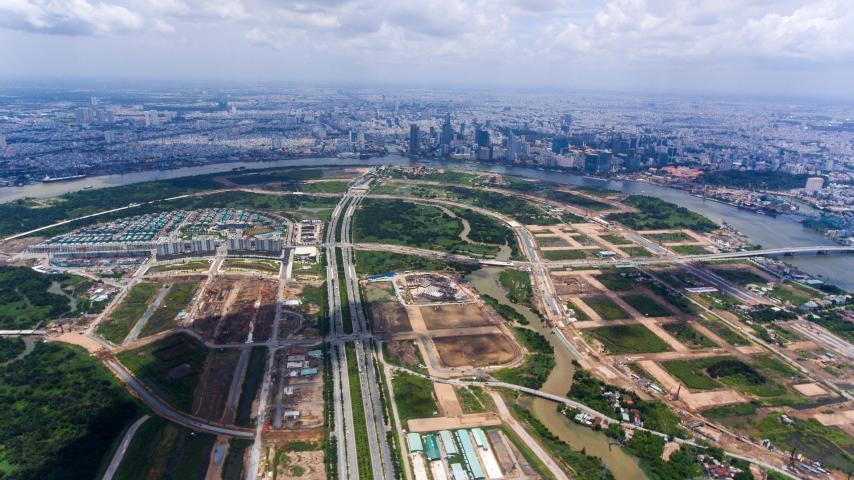 Khu đô thị mới Thủ Thiêm còn 36ha đất chưa có nhà đầu tư
