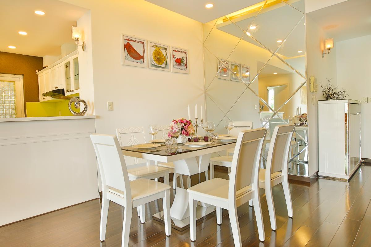 Khu vực bàn ăn rộng rãi Căn hộ 3 phòng ngủ tháp BA Mỹ Đức