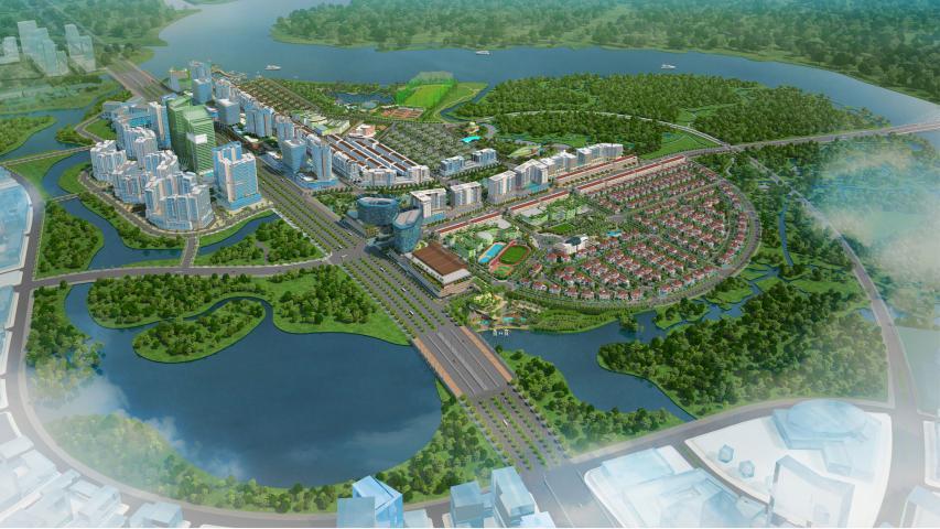 Chùm ảnh cập nhật tiến độ thi công Khu đô thị Sala