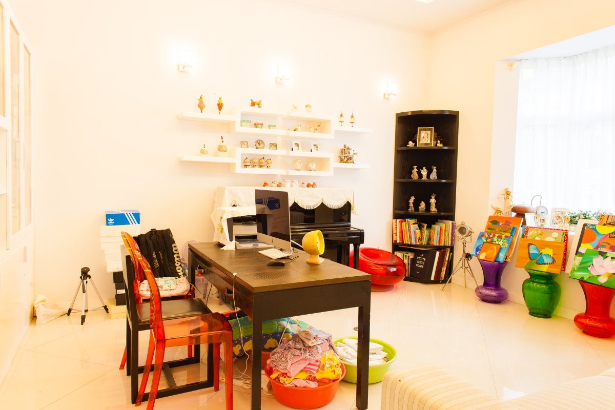 Phòng học cho con trẻ Villa 2 tầng đơn lập Mỹ Phú 1A