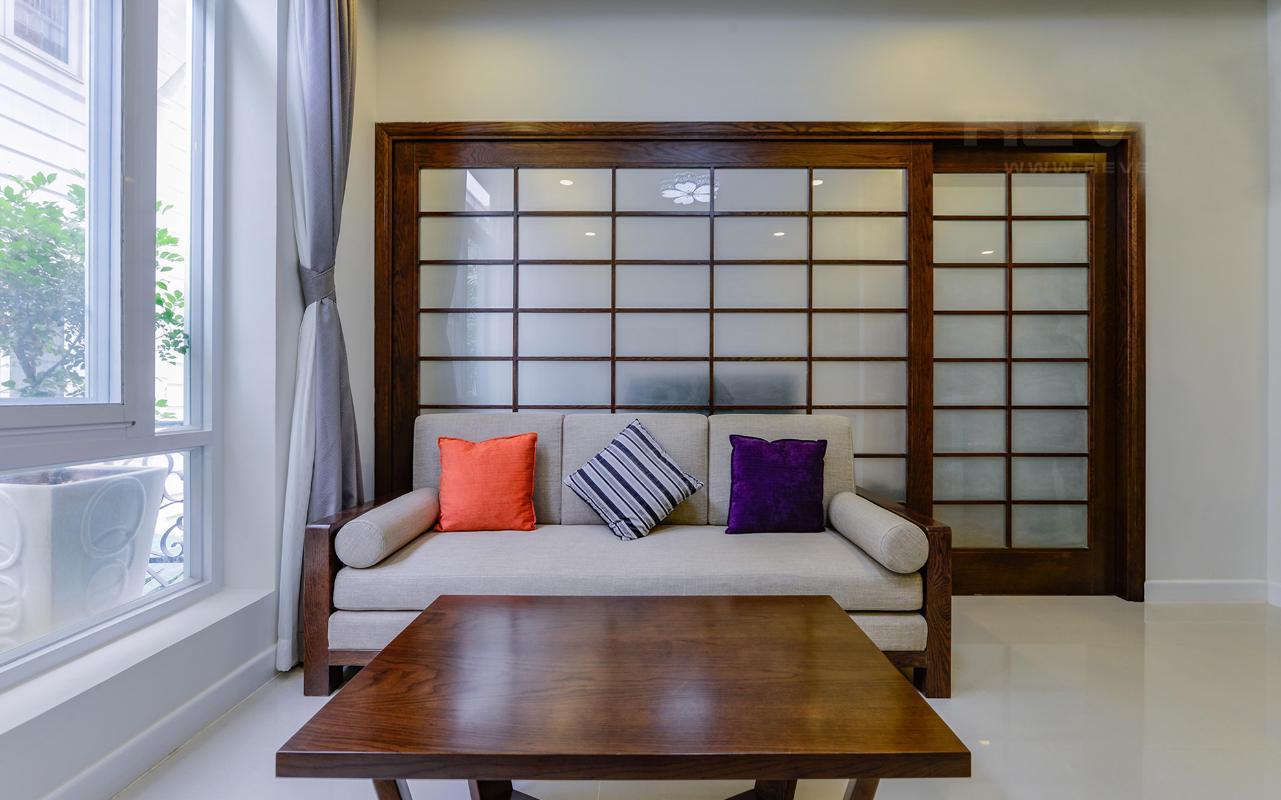Căn hộ dịch vụ cho thuê Sài Gòn Pearl 45m2, đủ nội thất phong cách Nhật