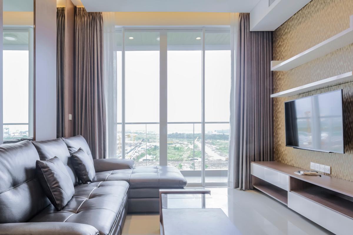 Phòng khách hướng Đông Nam Căn hộ B1 Sarimi Sala Đại Quang Minh