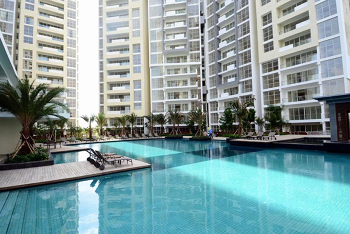 Hồ bơi nội khu Cho thuê căn hộ tầng cao 3A The Estella An Phú