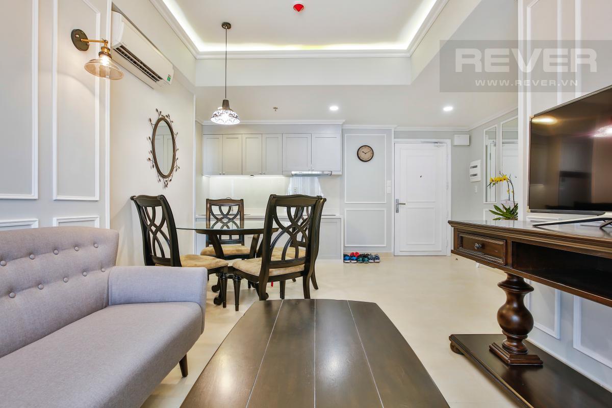 View nội khu căn hộ nhìn từ phòng khách Căn hộ tầng thấp hướng Tây Nam T3A Masteri Thảo Điền