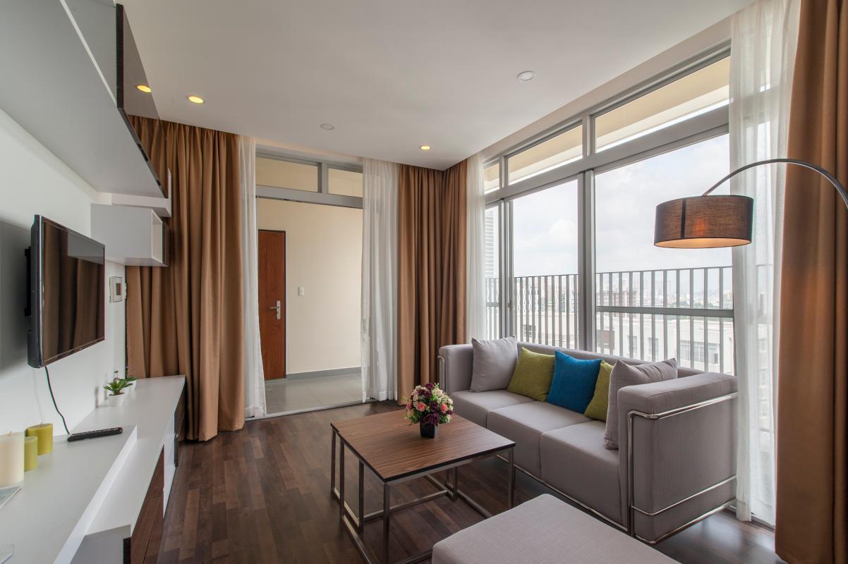 Phòng khách view ngoại khu Căn hộ tầng cao B Star Hill
