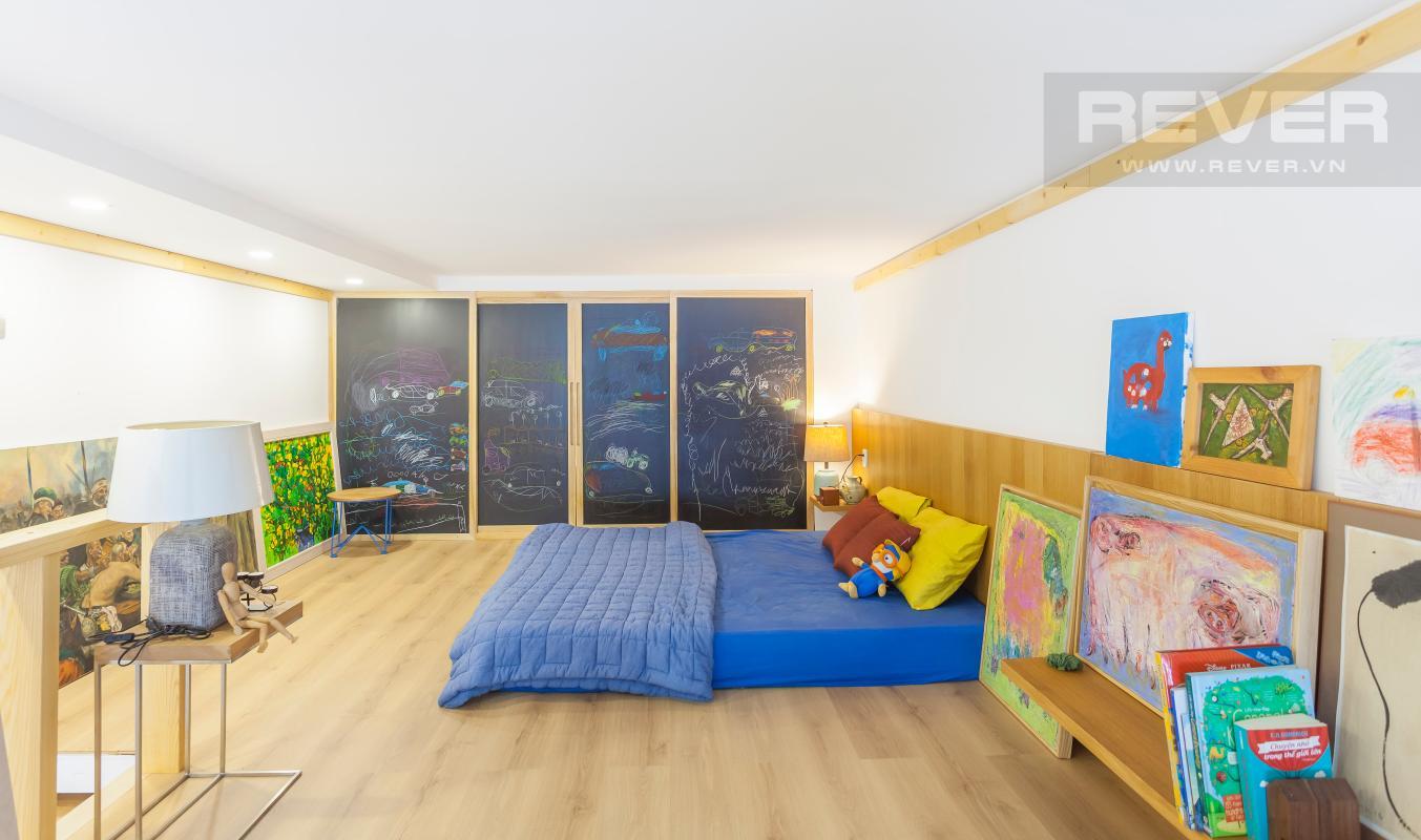 Không gian phòng ngủ Căn hộ officetel LE Lexington nội thất độc đáo, có gác lửng