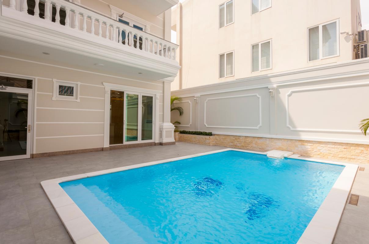 Hồ bơi Villa 3 tầng Thảo Điền compound