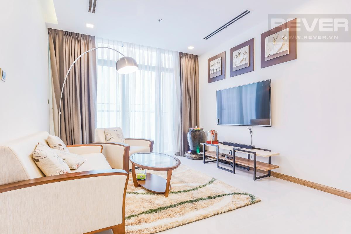 Nội thất phòng khách có thiết kế hiện đại, trẻ trung Căn hộ hướng Tây tầng cao P1 Vinhomes Central Park