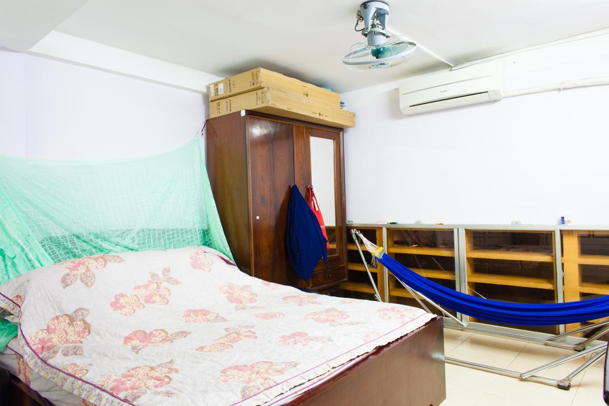 Phòng ngủ ở tầng lầu Căn hộ 2 mặt tiền lô D chung cư Hùng Vương
