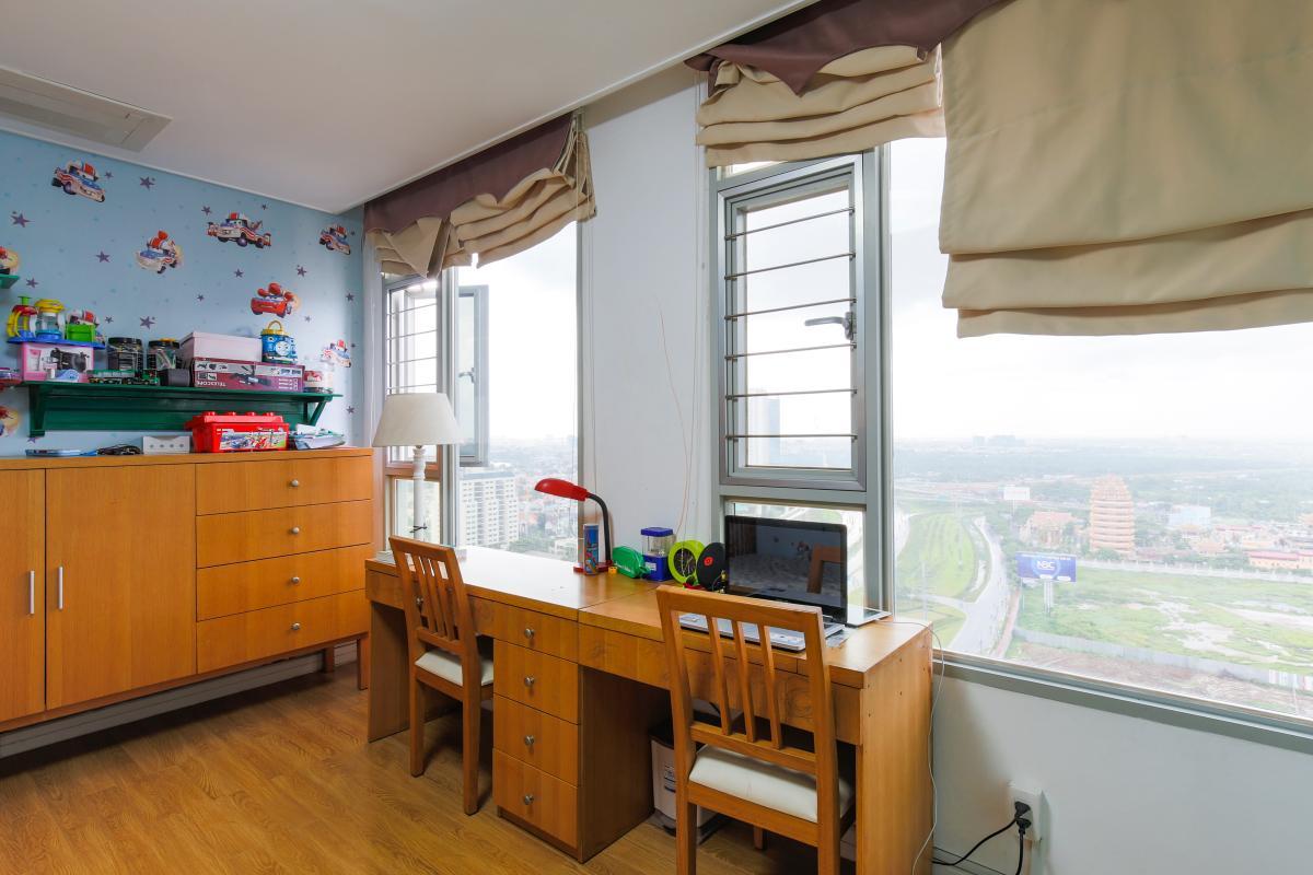 Phòng ngủ trẻ trung Căn hộ tầng cao tháp D2 Cantavil An Phú