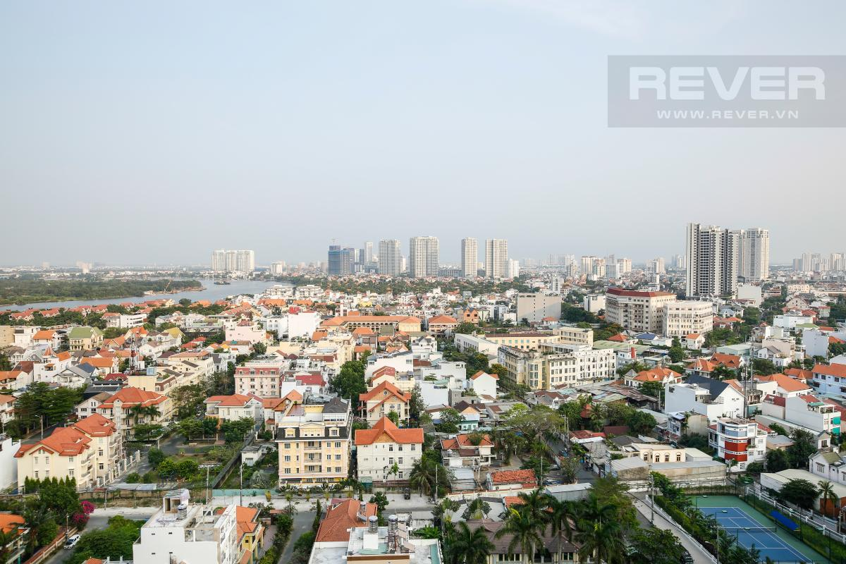 Cảnh quan khu đô thị An Phú (Thảo Điền), sông Sài Gòn và 1 phần bán đảo Thanh Đa Căn góc hướng Đông Nam tầng cao TC1 Tropic Garden