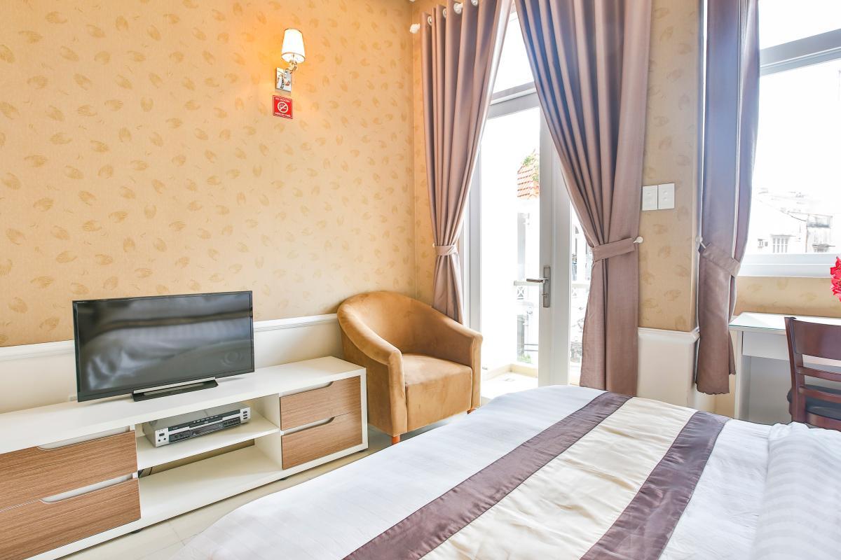 Phòng ngủ Căn hộ dịch vụ 55m2 Spring Apartment