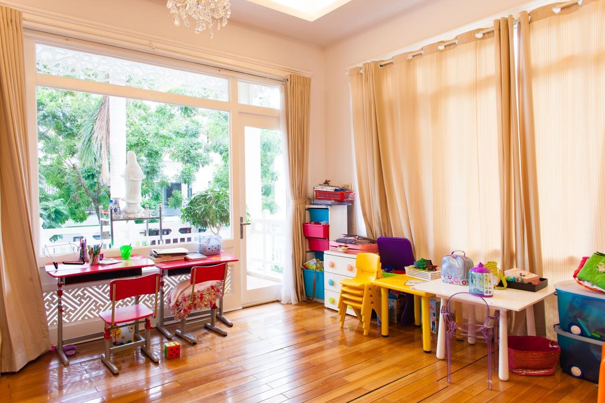 Phòng làm việc tầng 1 Villa 2 tầng đơn lập Mỹ Phú 1A