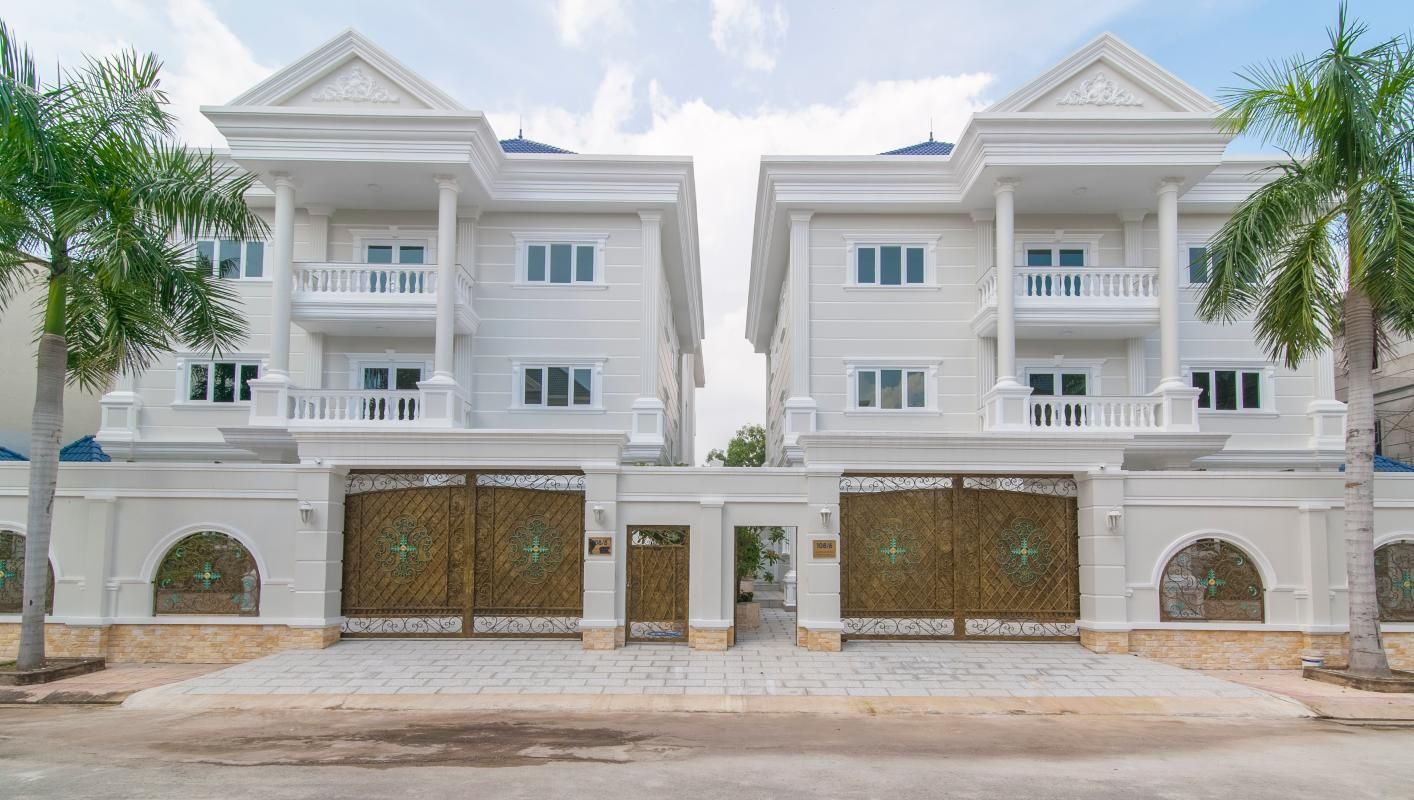 Mặt tiền villa Villa 3 tầng Thảo Điền compound