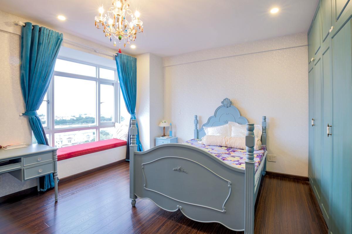 Phòng ngủ Căn góc hướng Tây Nam tháp D Riverside Residence