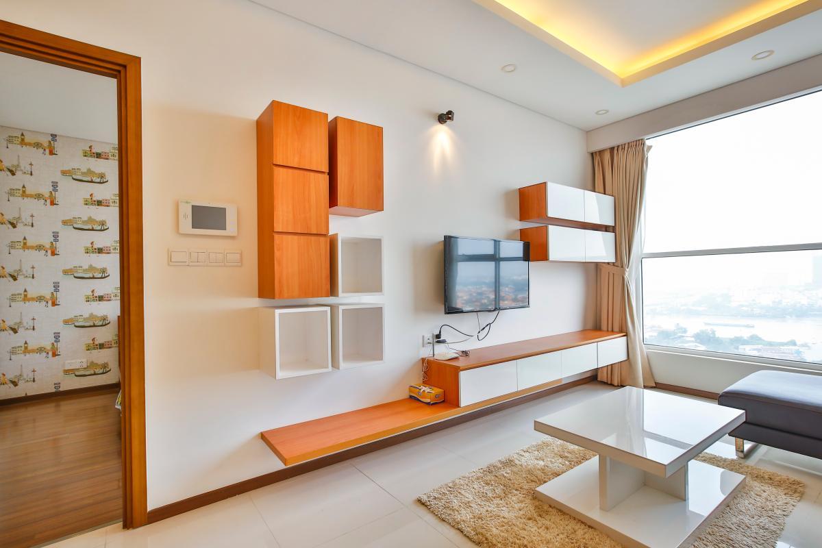 Hệ thống tủ để TV Căn hộ tầng cao tháp B Thảo Điền Pearl