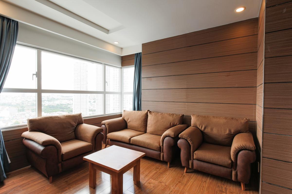 Phòng khách Căn góc tầng cao X2 Sunrise City