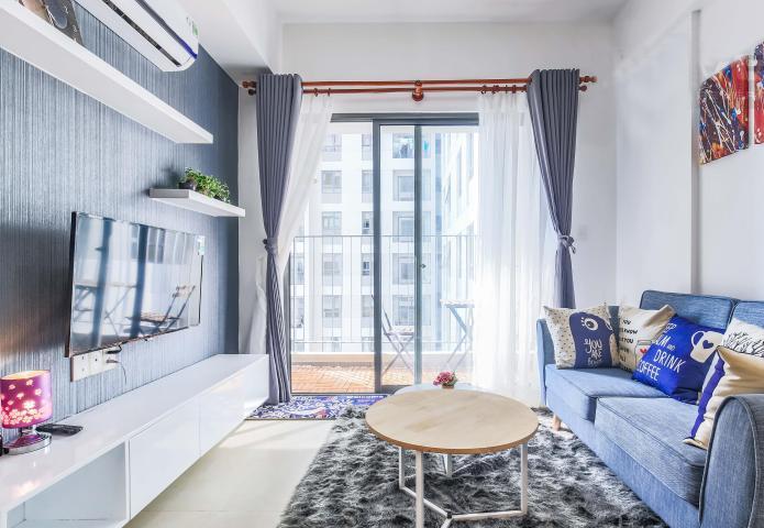 Cho thuê căn hộ Masteri Thảo Điền 2PN, tầng cao, tháp T2A, đầy đủ nội thất, hướng Tây Bắc
