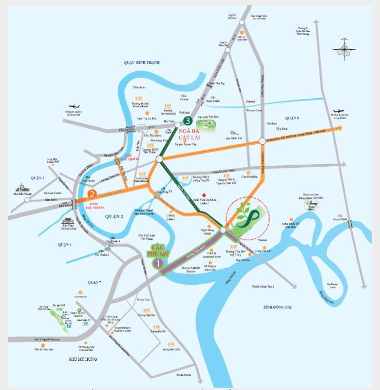 Phố Đông Village - Vị trí Phố Đông Village.png