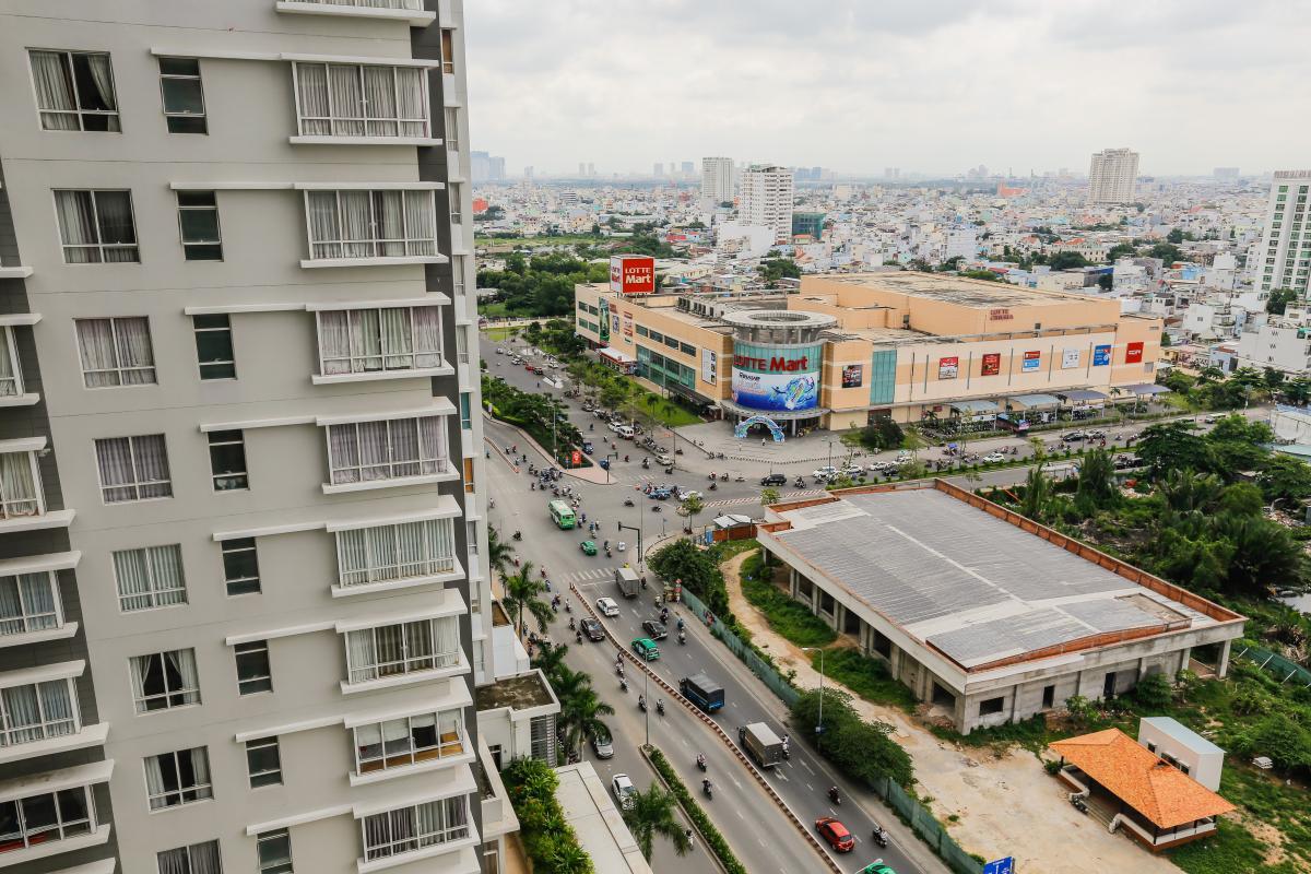View toàn cảnh Căn hộ tầng cao Sunrise City độc đáo với những họa tiết 3D