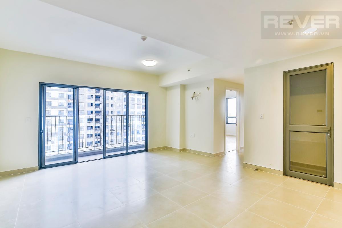 Phòng khách rộng rãi Căn góc tầng cao hướng Đông Nam T4B Masteri Thảo Điền