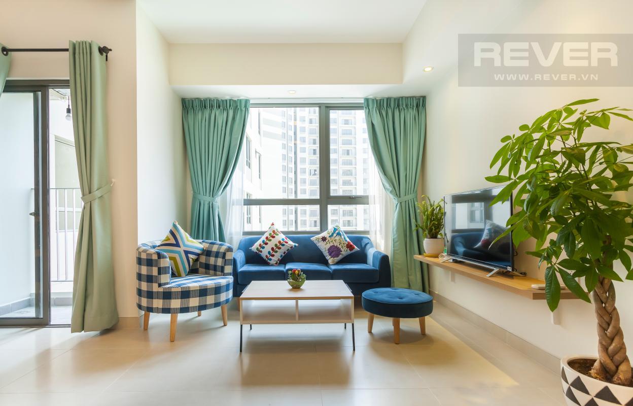 Phòng khách rộng rãi và thoáng mát Căn góc hướng Đông Nam tầng cao T3B Masteri Thảo Điền