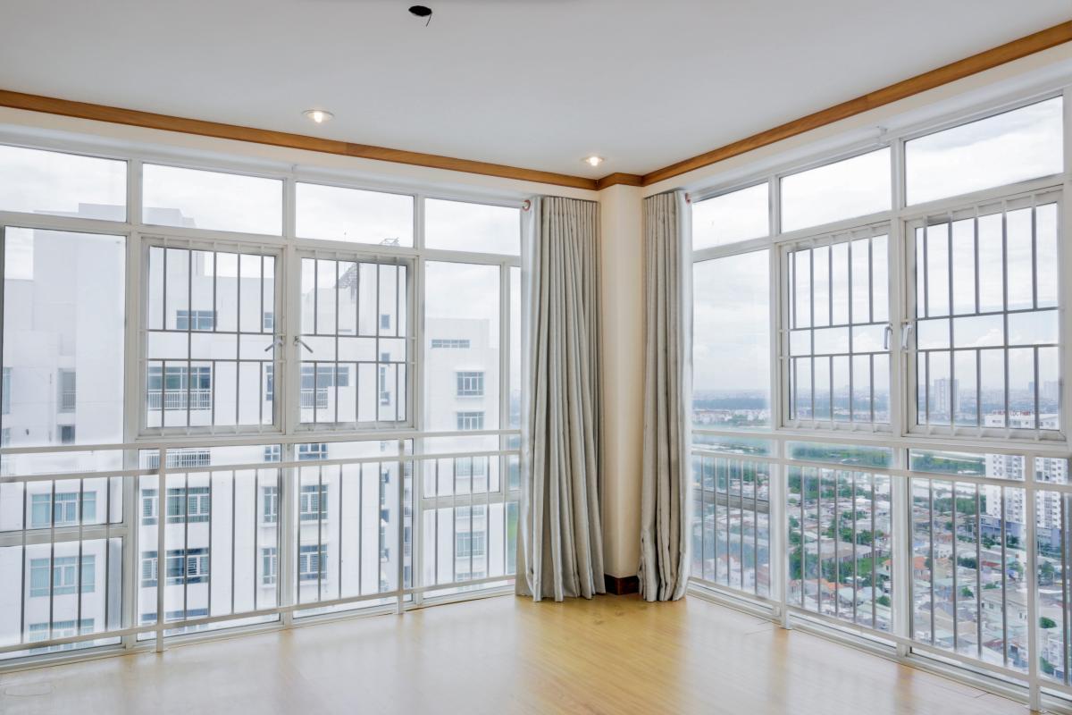 Phòng ngủ vị trí góc tầng 3 Lofthouse 3 tầng tháp B Hoàng Anh Gold House
