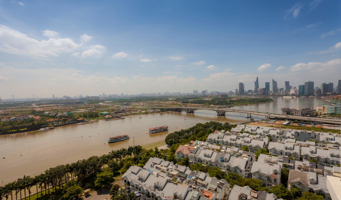 View sông từ căn hộ Căn hộ tầng cao Ruby 2 Sài Gòn Pearl