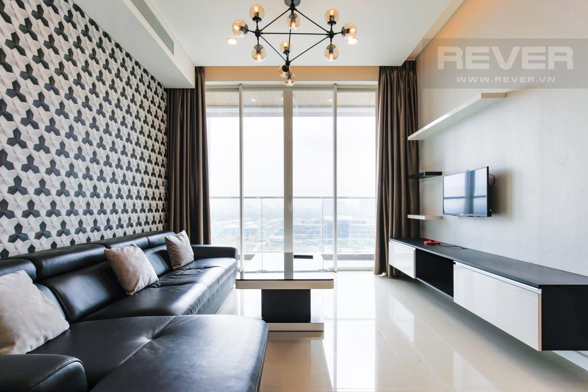 Không gian phòng khách rất thoáng đãng Căn hộ Sarimi tầng thấp B1 hướng  Tây Nam, 3 phòng ngủ