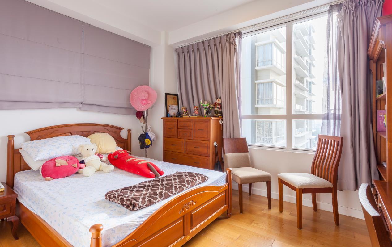 Phòng ngủ Căn góc tầng cao V6 Sunrise City