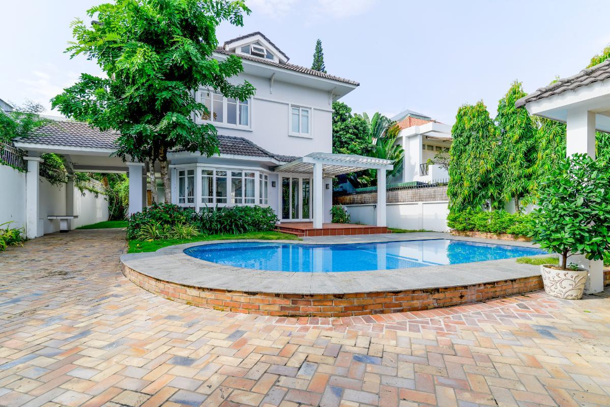 Kiến trúc tổng thể của villa Villa 3 tầng ABC Compoud Trần Não