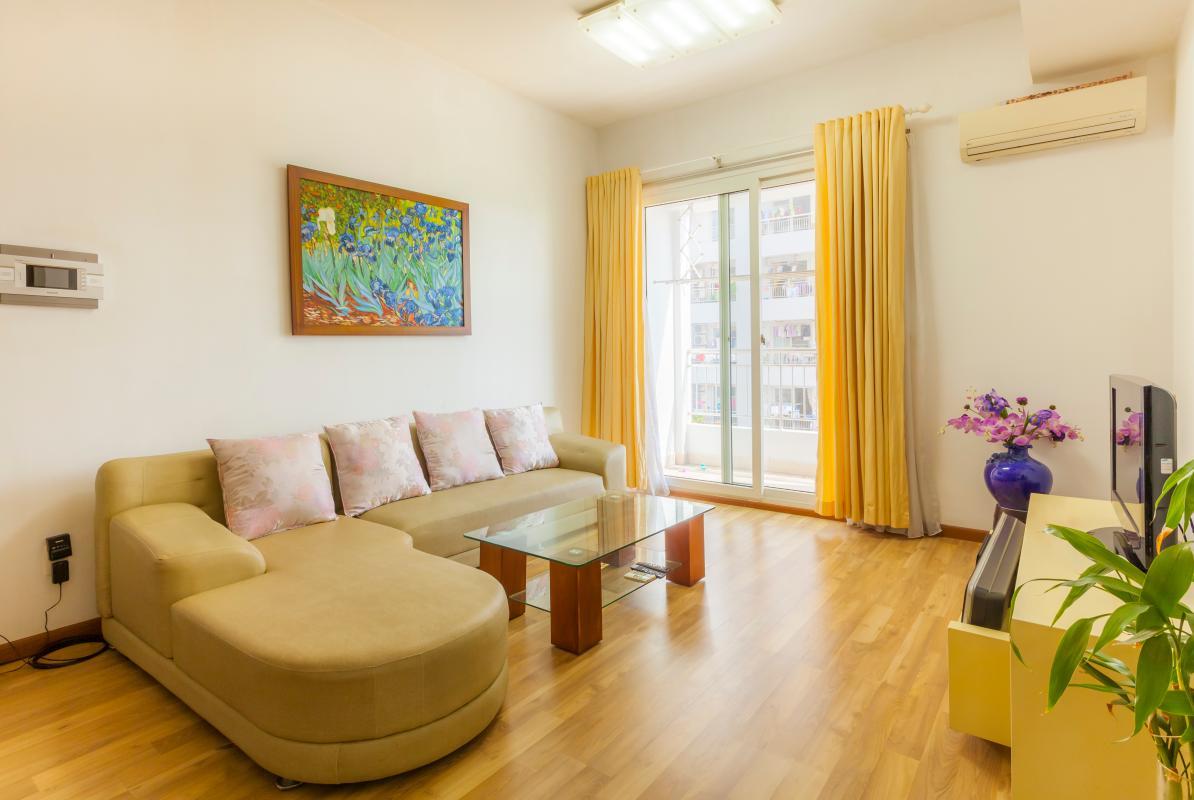 Ghế sofa phòng khách kiểu dáng hiện đại Căn góc tháp B V-Star Tấn Trường