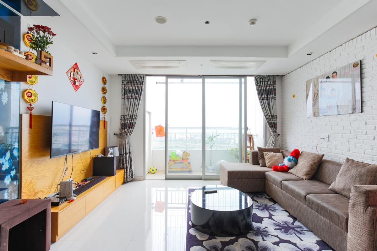 Nội thất phòng khách Căn hộ tầng cao tháp D2 Cantavil An Phú