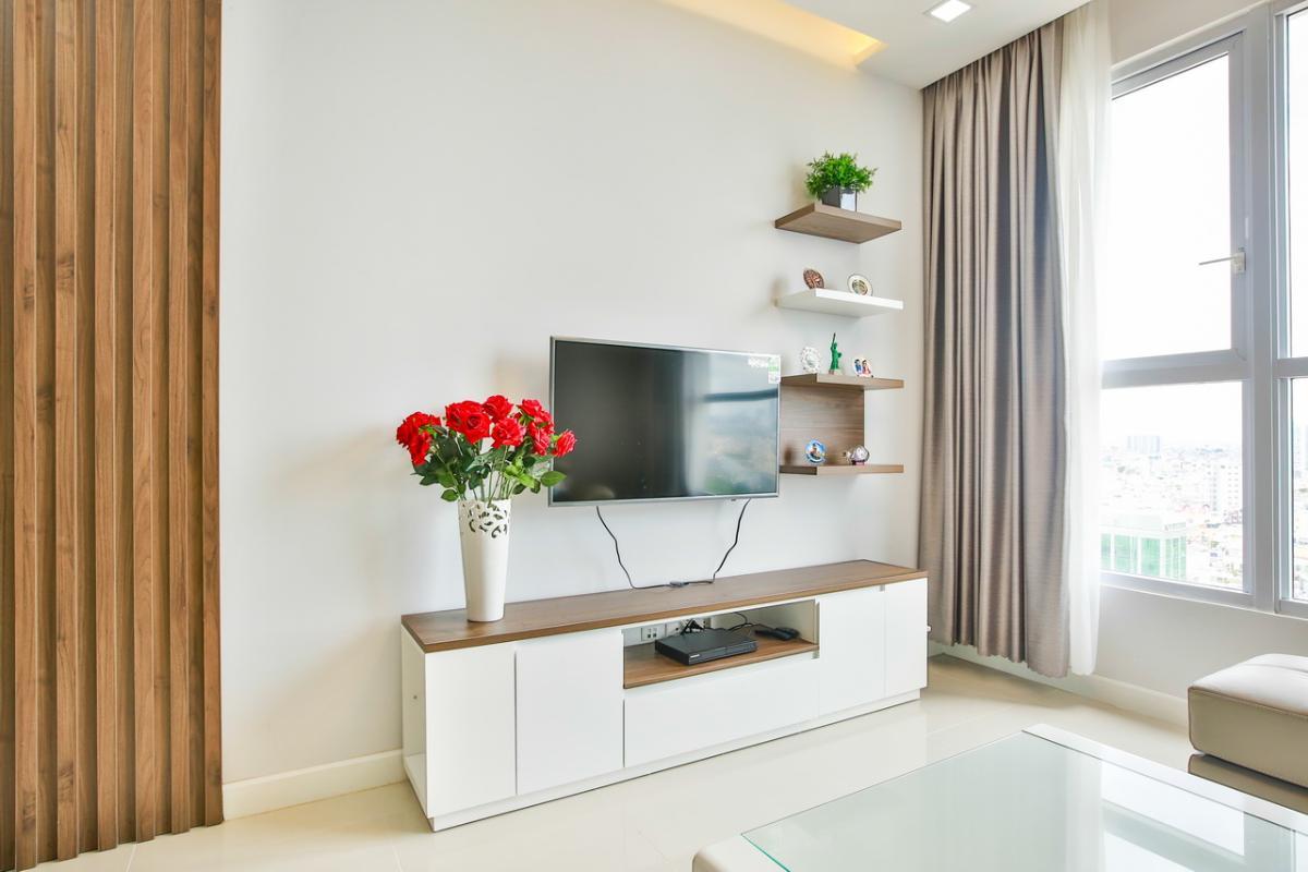 Nội thất phòng khách Căn hộ tầng cao P1 Prince Residence