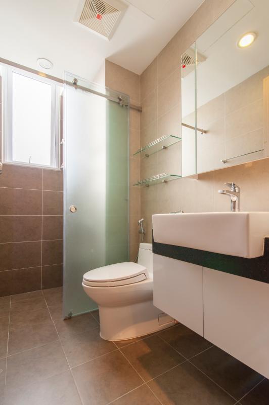 Phòng tắm Căn hộ P2 Prince Residence 2PN đầy đủ nội thất