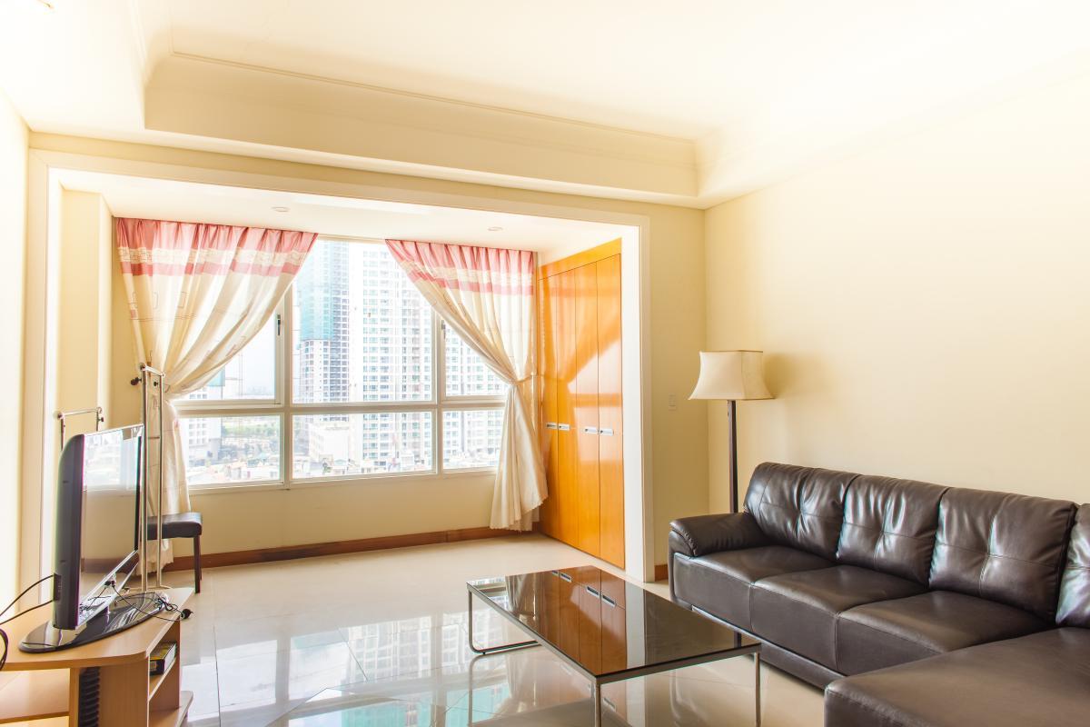Nội thất phòng khách Căn hộ tầng cao B The Manor 1