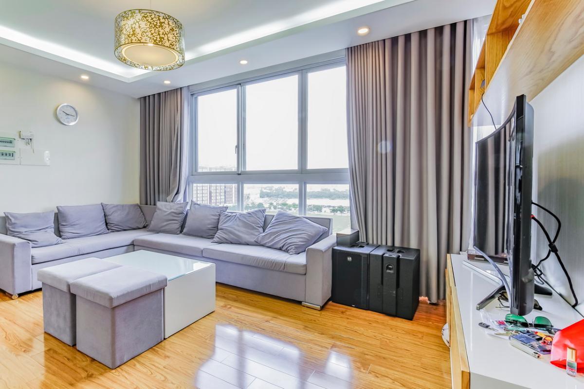 Phòng khách  view nội khu Căn hộ tầng cao tháp F Star Hill