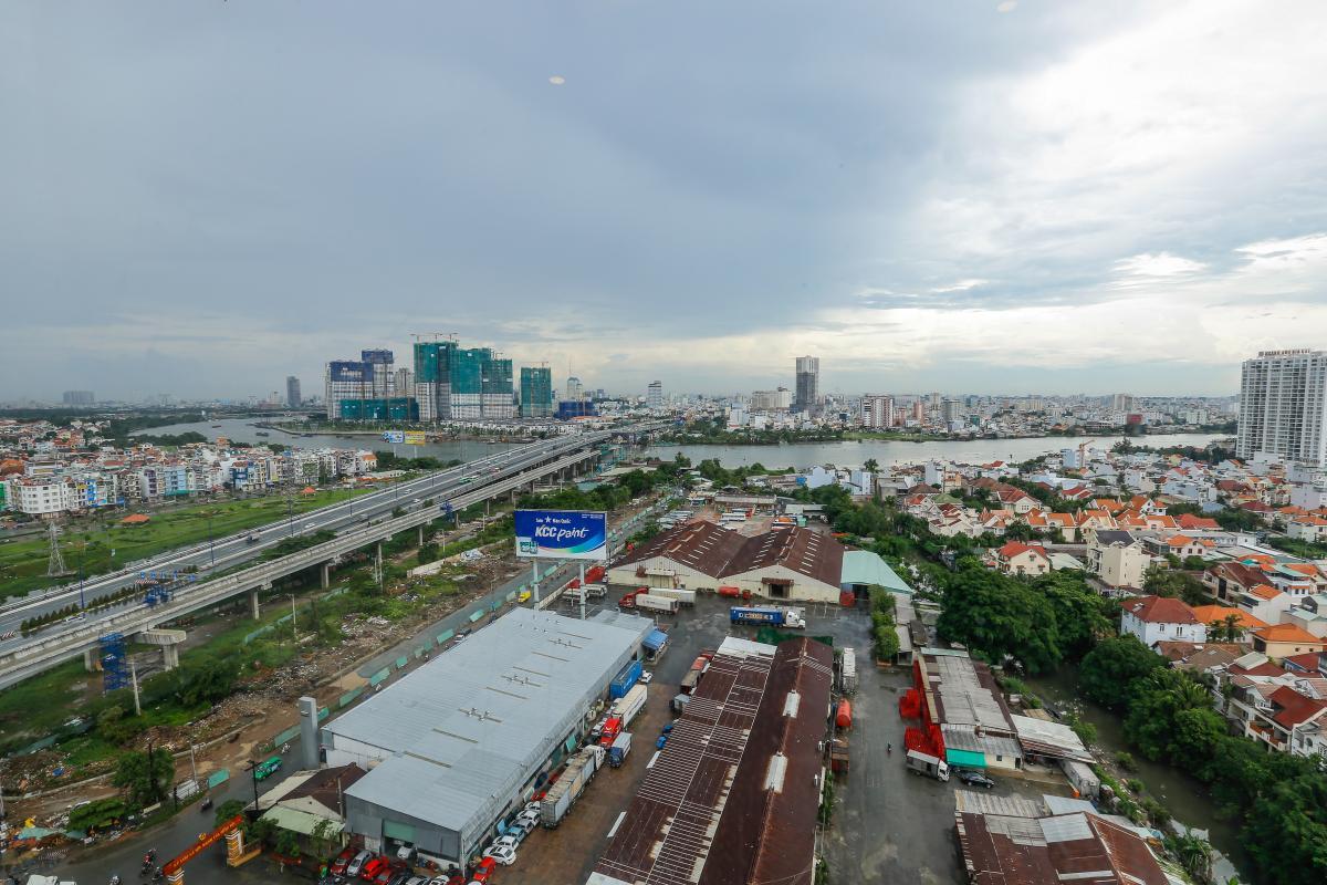 View toàn cảnh Căn hộ tầng cao tháp B Thảo Điền Pearl