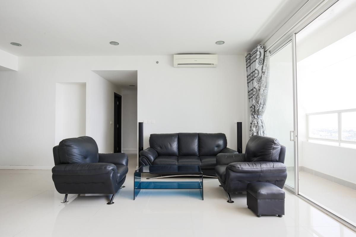 Sofa phòng khách Căn góc tầng cao tháp V3 Sunrise City