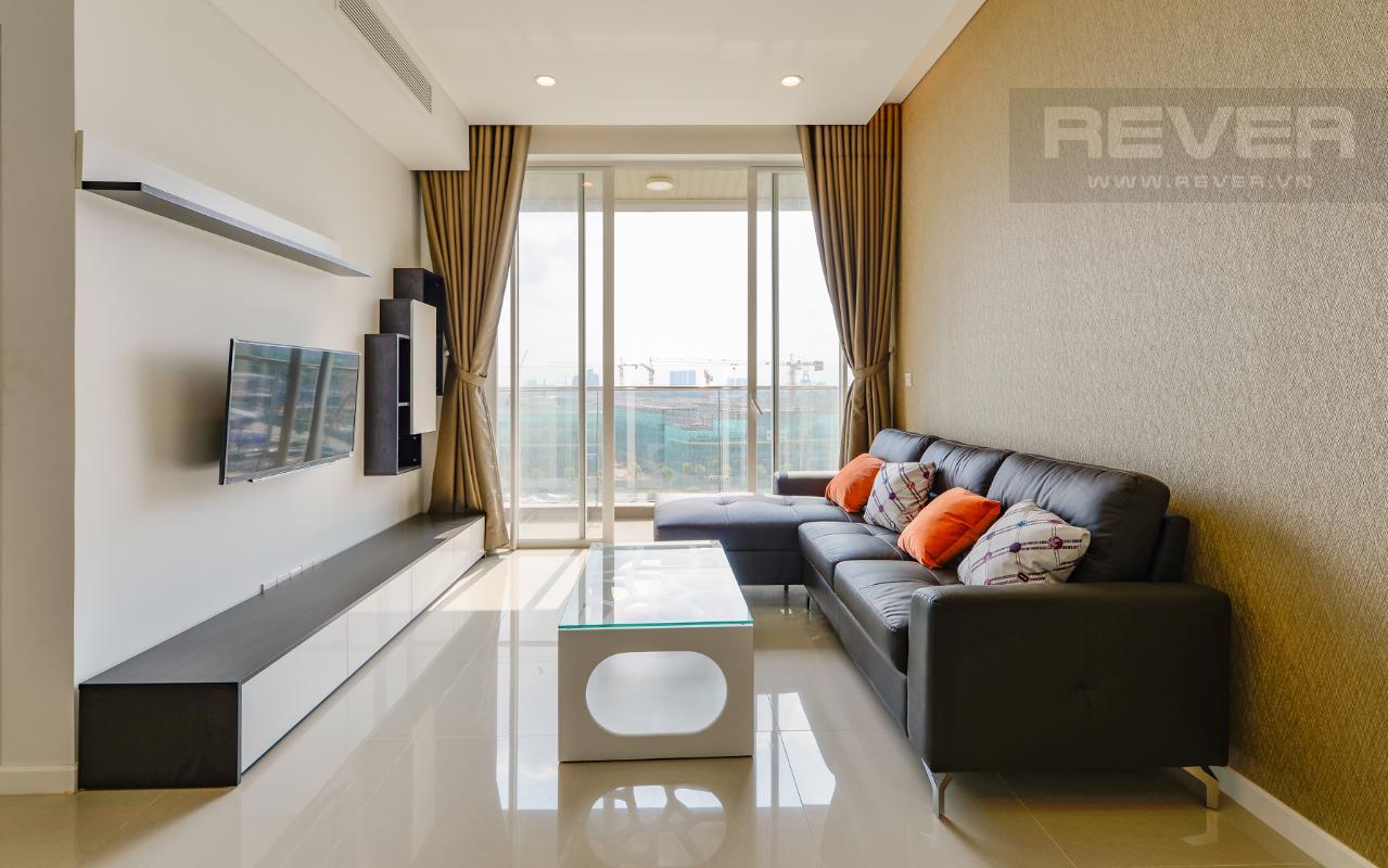 Phòng khách thoáng mát Căn hộ Sarimi tầng thấp A2, hướng Đông Bắc nhìn ra công viên