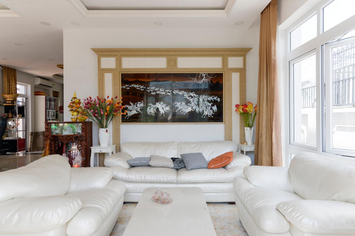 Phòng khách cực kỳ sang trọng Villa 3 tầng compound Hà Đô