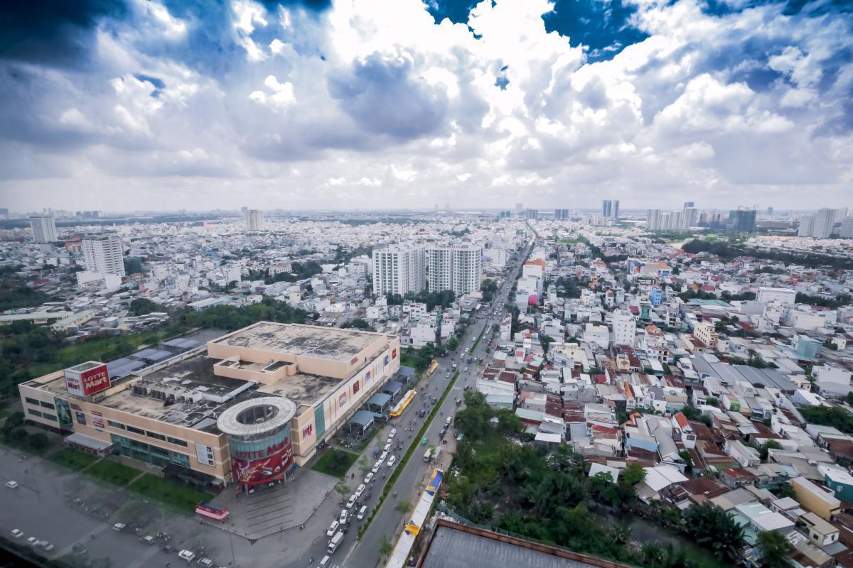 Sunrise City - Hướng nhìn về khu đô thị Phú Mỹ Hưng từ căn hộ ở tháp V6