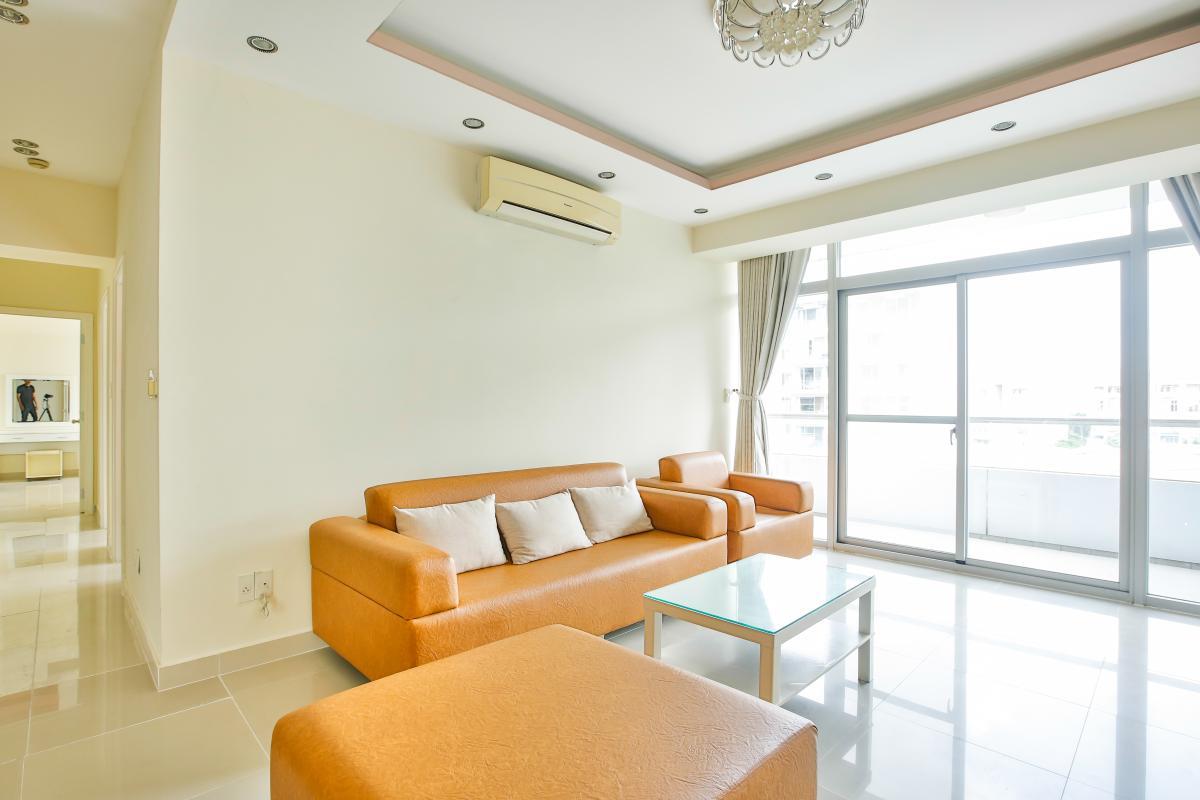 Nội thất phòng khách hiện đại Căn hộ 3 phòng ngủ tháp 3A Garden Court 1