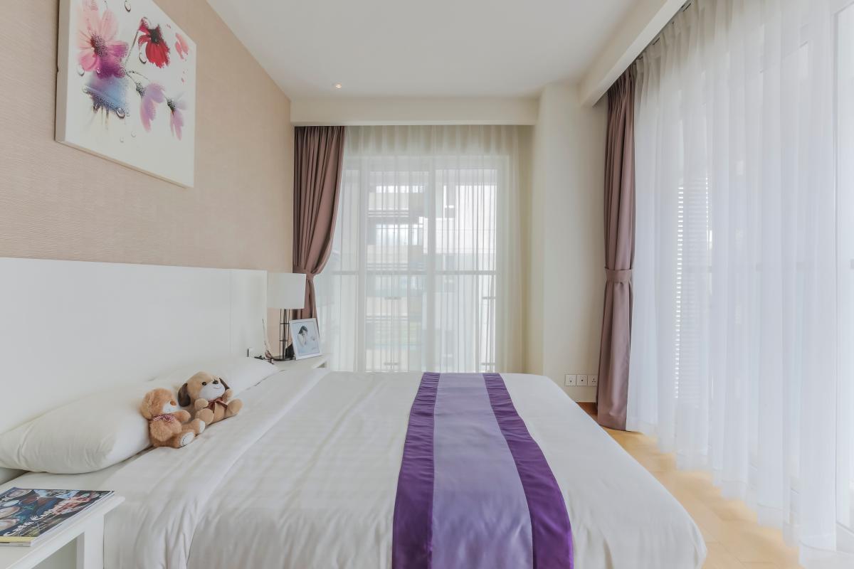 Phòng ngủ ở vị trí góc Căn duplex trung tầng Tower 3 Brilliant Đảo Kim Cương