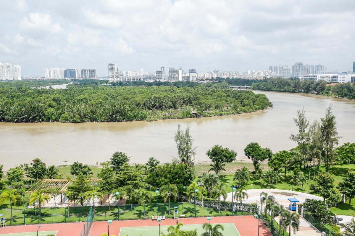 View toàn cảnh Căn hộ 2 phòng ngủ tháp B Riverside Residence