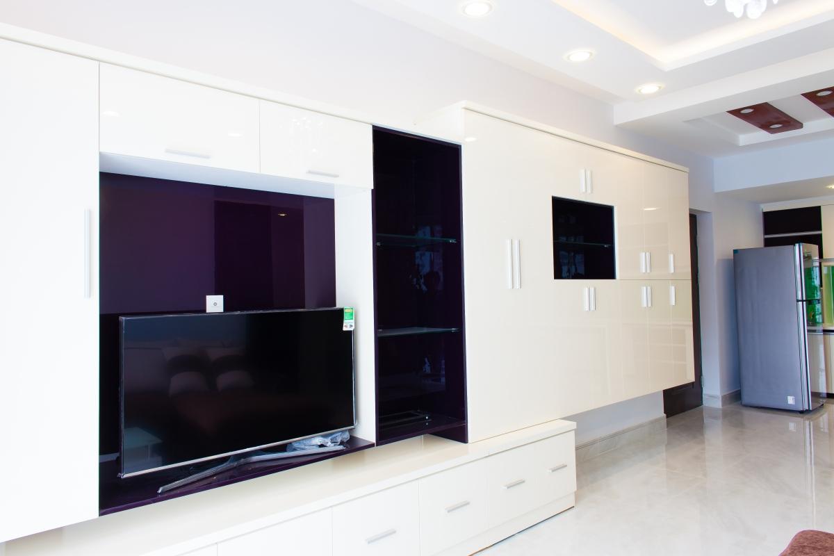 Tủ kệ để TV cách tân Căn hộ tầng cao tháp H Happy Valley